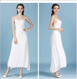 Wholesale Sexy Harness Dress - Sexy halter holiday dress skirt Bohemian harnesses mopping the beach causal dresses for women white dresses1113#