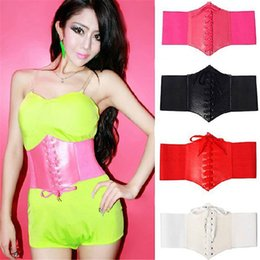 Wholesale Tights Striped Women - 2016 Rushed Real Belts 2017 Fashion Tied Waistband Elastic Tight Belt Summer Lacing Corset Tie High Waist Slimming Body Shaping Bands Waspie