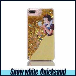 Wholesale Fairy Iphone - Fairy Tale 3D Liquid Case For iPhone 6Plus Glitter Quicksand Case Soft TPU Bling Bling Case For Iphone 6s Plus opp Package