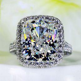 Wholesale diamond cushion cut - Victoria Wieck Women ring cushion cut 10ct simulated Diamond cz 925 Sterling Silver Engagement Wedding Band Ring