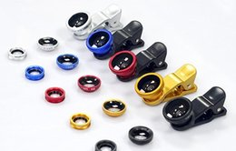 Wholesale Red Angle Eyes - Phone 3 in 1 Universal Fish Eye Wide Angle Macro Fisheye Lens With Clip For Apple iphone Samsung All Cellphone High Quality Glass