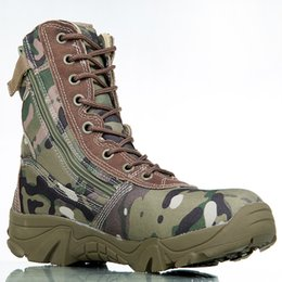 Wholesale Boot Tactical Military - Outdoor Sport Army Men's Tactical Boots Camo Male Combat Shoes Military leather Boots Enthusiasts Marine Shoes