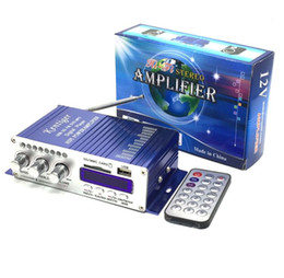 Wholesale 12v Sound Amplifier - kentiger HY502 12v Hi-Fi Mini Digital Motorcycle Auto Car Super Bass Stereo Power Amplifier Sound Enlarger Audio Music Player auto amplifier