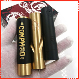 Wholesale E Cigarette Mod Full Mechanical - Wholesale- Top quality Spartan mod fit RDA atomizer Clone Able storm VS Complyfe HK full mechanical mod 18650 e cigarette Spartan Mech mods