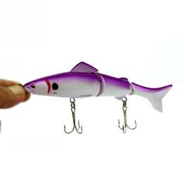 Wholesale Big Crankbait - HOT SELLING Fisherman Lure Lifelike Fishing Lure 3 Segment Swimbait Crankbait Hard Bait 12.5cm 4# simulation Artificial Lures Fishing Tackle