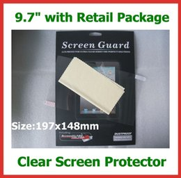 Wholesale Screen For Tablet Gps - Wholesale- 200pcs DHL Free Shipping Retail Package LCD Screen Protector Film 9.7 inch NOT Full-Screen Size 197x148mm for GPS Tablet PC