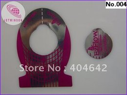 Wholesale Fish Nail Art - Wholesale- 500pcs purple Nail Form Roll Art Tip Extension Forms for Acrylic UV Gel Fish Shape Free Shipping