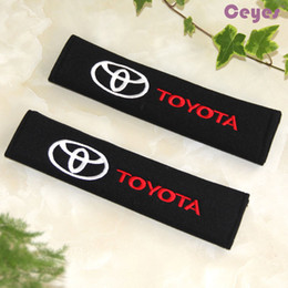 Wholesale Padded Belt - Safety Belt Cover for toyota corolla avensis c-hr raw4 Protection Ceinture Car Seat Belt Cover Car Accessories Styling 2PCS LOT