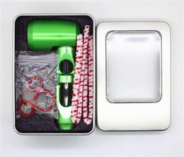 plataforma de aluminio Rebajas El más nuevo Nano Dab Oil Rig Portable Bubble Hookahs Tubo de agua de vidrio para Dry Herb Unbreakable Percolador Bong tobacoo Aluminum Smoking Pipe