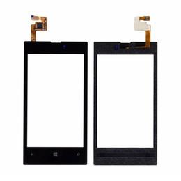 Schermo di tocco lumia 625 online-Obiettivo di vetro del convertitore analogico / digitale del touch screen dell'OEM 100PCS per Nokia Lumia 520 530 535 620 625 630 DHL libero