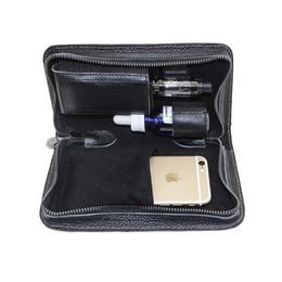e cig funda de transporte vaping bolso portátil vape bolso de viaje hecho por cuero puro en stock desde fabricantes