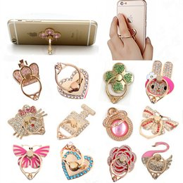Wholesale Unique Retail - Ring Phone Holder Unique Mix Style Cell Phone Holder Fashion for iphone x 8 7 6s Samsung S8 cellphone stand with retail package