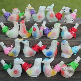 Wholesale craft ceramics - Bird Shape Whistle Children Ceramic Water Ocarina Arts And Crafts Kid Gift For Many Styles 1 1yx C