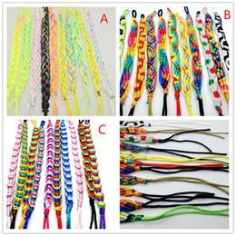 großhandelsmanncharme-stulpearmbänder Rabatt Handgemachte Multi-color Freundschaft Seil Armband Manschette Armbänder Schmuck Für Mann Frauen geschenk armband