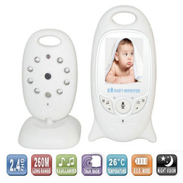 Wholesale Lcd Wireless Baby Monitor - Wireless 2.4GHz Digital Color LCD Baby Monitor Camera Night Vision Audio Video