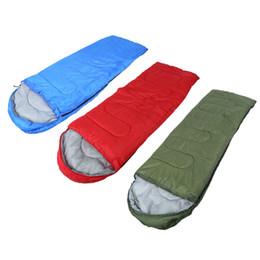 Wholesale Nylon Sleeping Bags - Wholesale- Single Person Sleeping Bag Outdoor Waterproof Keep Warm Four Seasons Spring Summer Sleeping Bags Blanket For Camping Travel