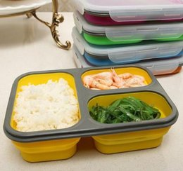 Wholesale Drink Box - hot sell Silicone Collapsible Portable Lunch Box Bowl Bento Boxes Folding Food Storage Container Lunchbox Eco-Friendly
