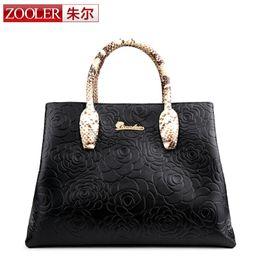 Wholesale Zooler Bags - Wholesale-ZOOLER Genuine Leather bag bags handbags women famous brands top quality large capacity shoulder bags bolsa feminina