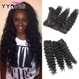Wholesale Cheap Unprocessed Deep Wave Hair - Cheap Best Selling Grade 8A Virgin Brazilian Hair 4Bundles YYONG Hair Products Unprocessed Deep Wave Brazilian Hair 100g YYONG Free Shipping