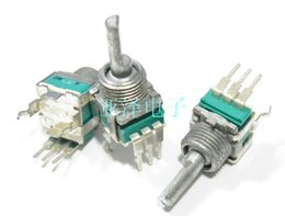 Wholesale 16mm Shaft - Wholesale- [BELLA] potentiometer-ALPS Alps 09 Precision Gear 90 rotary switch 2 switch shaft length 16MM--20pcs lot