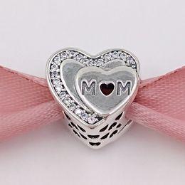 pandora encanta a la madre Rebajas Día de la madre 925 cuentas de plata esterlina encantos del tributo a la mamá se adapta al estilo europeo joyería de Pandora regalos collar de las pulseras 792070CZ mamá