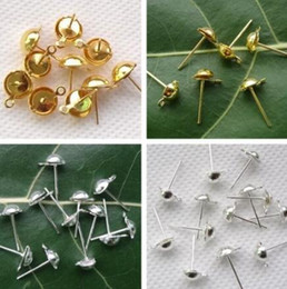 Wholesale Lever Back Wires - Wholesale Antiques Gold Silver Earring Lever Back Clip Ear Nail Wires Hooks Stud Earrings peg For Women Jewelry Accessories Gift