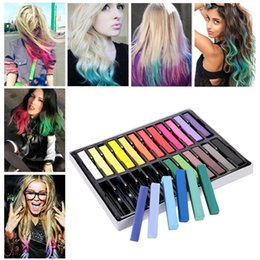 Wholesale Dye Pastel - 24 Colors Beauty Non-toxic Temporary Hair Dye Convenient DIY Hair Color Chalks Crayons Pastels Stick Alcohol Hair Styling ZA1968
