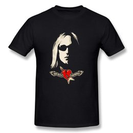 Wholesale Cheap Printed Shirts - Tom Petty And The Heartbreakers Logo new High Quality 100% Cotton men's T Shirt cheap sell Free shipping