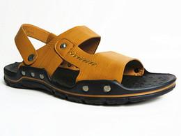 Wholesale Button Flat Back - Z6 men's classic beach shoes comfortable breathable men sandals slippers Classic style Cool Hollow Retro summer shoes#S91