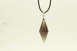 Wholesale Sell Girlfriend - 2017 Hot Sell Super Free shipping necklace Beautiful Natural quartz pendants Pendulum Crystal Healing for Girlfriend Gidft