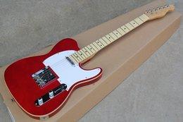 Wholesale tele custom - New Arrival Custom Shop Red Telecaster Basswood Body Maple Fingerboard Tele 6 String Electric Guitar Chrome Hardware