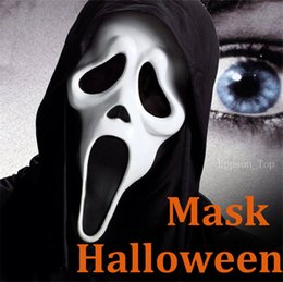 Wholesale Halloween Plastic Skeleton - Halloween Mask Terrorible Horror Ghost Screaming Skeleton Ghost Face Masks Party Wholesale Direct Factory Price 11 Style Newest Wholesale