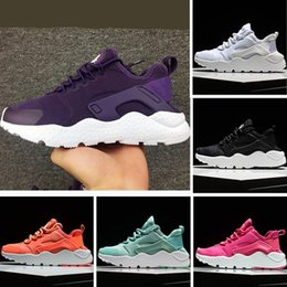 Wholesale Iv 11 - 2016 AirHuarache IV Running Shoes For Kids Triple Black White High Quality Children Huaraches Jogging Sports Sneakers