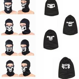Wholesale Tactical Helmet Face Mask - Tactical Skull Caps Mouth Balaclava Outdoor Windproof Breathable Mash Balaclava CS Full Face Mask Helmet Full Face Mask Hats Cap KKA2525