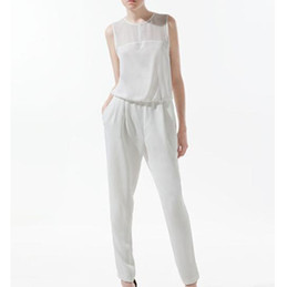 Wholesale Ladies Plus Size Overalls - Wholesale- Summer Fashion Women Jumpsuit Tank Sleeveless Overall Ladies' Casual Jumpsuits Black Pants Rompers Plus Size