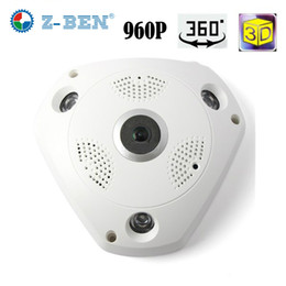 Wholesale Wireless Hidden Camera Security Systems - 2017 Z-BEN Newest 360 Degree Panoramic VR Camera HD 960P Wireless WIFI IP Camera Home Security Surveillance System Hidden Webcam CCTV P2P
