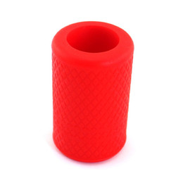Wholesale Tattoo Tubes Sale - Wholesale-Hot sale 1Pc Soft-Silicone Tattoo Grip Cover For Tattoo Machine Supply Tube Reusable Holder Autoclavable Red