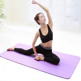 Articoli sportivi Yoga 10mm Spessore Tappetino per yoga Tappetino per principianti Fitness usato Tappetino antiscivolo flessibile Tappetino per yoga inodore da