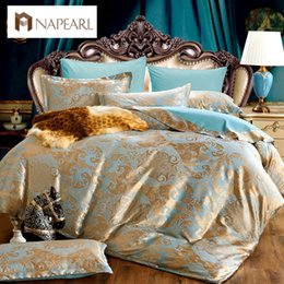 Wholesale Luxury Jacquard Sheets - Wholesale- Luxury jacquard Bedding sets cotton home textile duvet cover European design bed cover bed sheet twin queen king