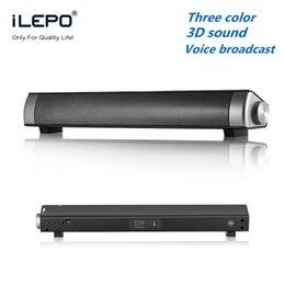 Wholesale Smallest Stereo Speakers - Sound Bar Wireless Subwoofer Bluetooth Speaker 10W Small TV Soundbar Receiver Stereo Super Bass Portable Loudspeaker for TV PC Smartphone