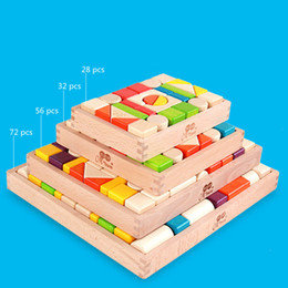 Wholesale Block Jigsaw Puzzles - Children Mental Development Tangram Wooden Russian Tetris Puzzle Jigsaw Puzzle Educational Toys for Kids intellectual Building Blocks DHL
