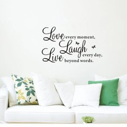 Wholesale Decal Love - live laugh love quotes Wall Sticker decal Decals Wallpaper beauty wall stickers home decor Mural Home Decor for Family zy1002 free shipping