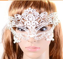 Wholesale Embroidery Half Face Mask - Wholesale- Free Shipping 1pcs Sexy Eye lace Mask wedding masquerade masks Lace embroidery cutout veil cotillon party bachelorette party
