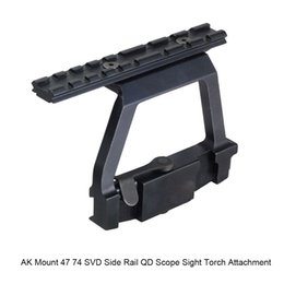 Wholesale Railings Steel - RL2-0022 Tactical Ak Kalashnikov Ak-47 AK 74 Ak47 Ak74 AK 47 Mount Side Locker QD Picatinny Rail Scope Mount Sight Steel Mount