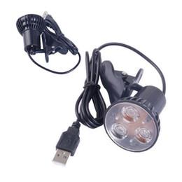 Wholesale Clip Lamp Laptop - Wholesale- Super Bright 3 LED Port Clip On Spot USB Light Lamp For Laptop PC Notebook Black -Y103