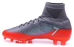 Wholesale Pink Carbon Fiber - 2017 new men 11 generation Chapter 5 Bangzhen carbon fiber bottom CR7 exclusive Sneakers soccer shoes,Mercurial Superfly CR7 FG Soccer shoes