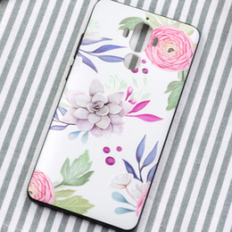 Wholesale Huawei Phone Housing - For huawei p9 p8 p10 p10plus Honor8 case 3d relief Landscape flowers back cover for huawei p9 plus phone Silicone tpu Case house