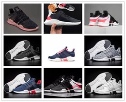 Wholesale Shoes Eva Casual Kids - 2017 Top Quality EQT Support ADV Running Shoes Men Women Kids GS Boost Sneakers Black White Pink GS Casual Shoes Size EUR 36-44