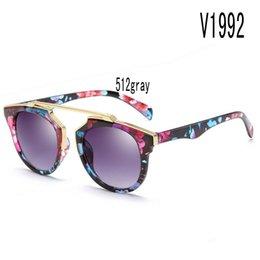 Sonnenbrille für Frauen korea ovale Gesicht Seitenschilder China Farbe Glas Großhandel Marke Uv Schutz Markt Europa Großhändler Strand mit Box von Fabrikanten