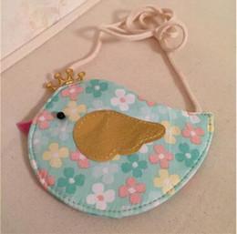 Wholesale Satchels For Kids - Mini Bags Kids Girls Bird Handbag Messenger Shoulder Bag Cross Body Candy Coin Handbags Purse Satchel Gifts For Children DHL Free Shipping